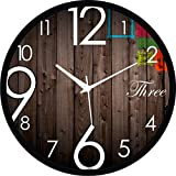 Regent Round Wall Clock With Glass For Home / Bedroom / Living Room / Kitchen