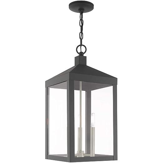 Amazon.com: Colgantes de 3 lámparas con acabado en gris ...