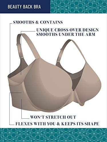 Vanity Fair Women's Beauty Full Figure Underwire Extended Side and Back Smoother Bra 76267