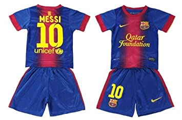 Barcelona 2012 Kids Messi Home Jersey Shirt & Shorts - For Kids 9-11 Years