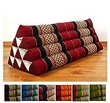 LivAsia Throw Pillow, 32x12x13 inches (LxWxH), XXL wide, 100% Natural Kapok Filling, Triangle Cushion, Headrest, Thai Pillow