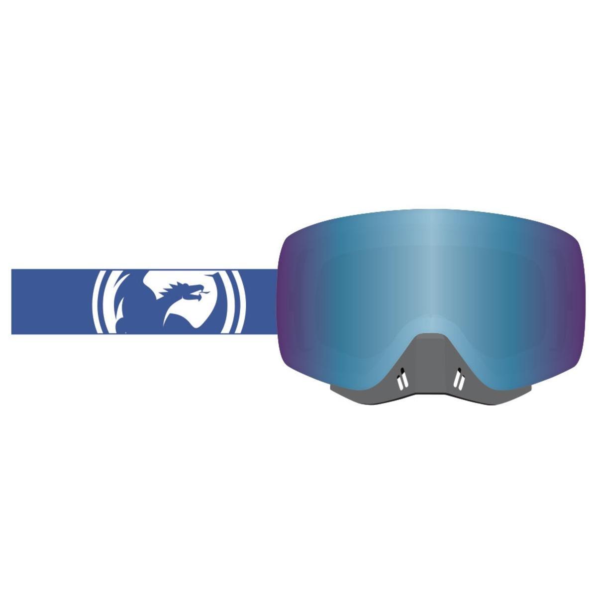 Dragon Alliance Unisex-Adult's Nfxs Goggle (Blue-White Split/Blue Steel Ion Lens, One Size)