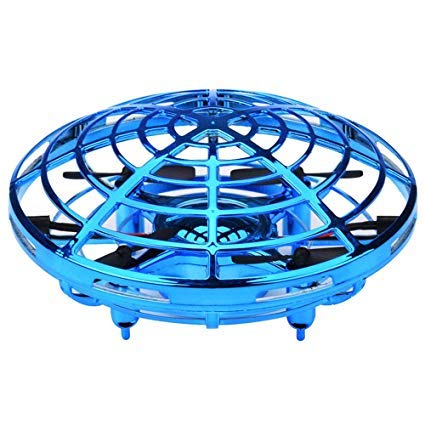 Hikoshi Flying Toys Drones for Kids Mini Drones Hand Controlled UFO Flying Ball with Infrared Induction Interactive Drone Indoor Toys 360° Rotating and LED Lights for Boys and Girls by Hikoshi