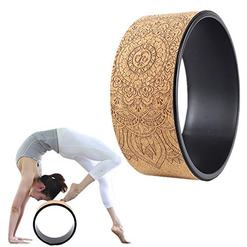 AOOCEEH Yogaring Yoga Wheel Yoga Rad zum Dehnen Pilates-Übungsrad Back Workout Pilates Yoga Wheel Yoga Haltung Yoga Prop Wheel für Yoga-Posen