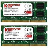 Komputerbay 8GB (2 x 4GB) DDR3 SODIMM (204 broches) 1333Mhz PC3-10600 (9-9-9-25) PC portable Mémoire pour Apple iMac