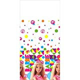Barbi Sparkle Plastic Table Cover Birthday Party Tableware Decoration (1 Piece), Multi Color, 54' x 96'.