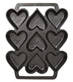 Cast Iron Heart Shaped Cake Pan - 9 x 7.5 Inch