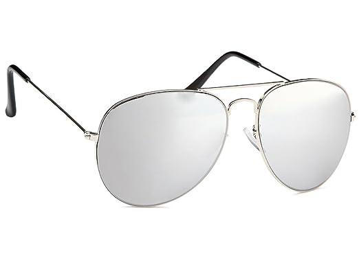 Tedd Haze Pilotenbrille verspiegelt mit Brillenbeutel b1wHtB