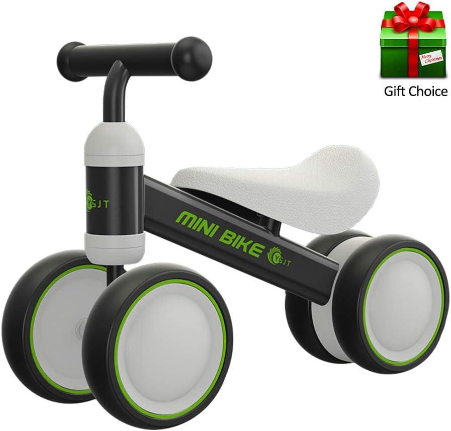YGJT Bicicletas sin Pedales para Niños 1 Año(10-18 Meses) Triciclos Bebes Correpasillos Juguetes Regalos bebé Bici sin Pedales niño (Negro)