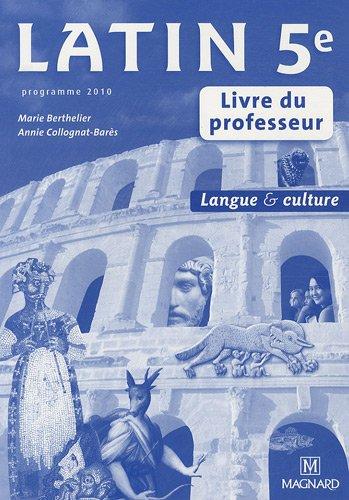 Latin 5e Livre Du Professeur Telecharger Pdf De Marie
