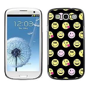 TopCaseStore / la caja del caucho duro de la cubierta de protección de la piel - Face Funny Emoticon - Samsung Galaxy S3 I9300