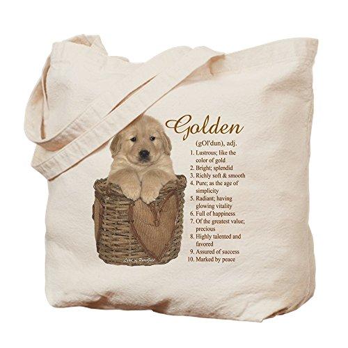 Retriever Tote Bag (CafePress - Golden Retriever Meaning - Natural Canvas Tote Bag, Cloth Shopping Bag)