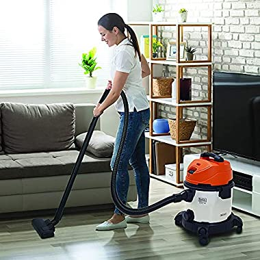 BLACK+DECKER WDBDS20 20-Litre, 1400 Watt, 16 KPa High Suction Wet and Dry Stainless Steel Vacuum Cleaner and Blower with HEPA Filter and Reusable Dustbag (Red) 14