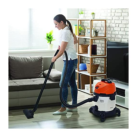 BLACK+DECKER WDBDS20 20-Litre, 1400 Watt, 16 KPa High Suction Wet and Dry Stainless Steel Vacuum Cleaner and Blower with HEPA Filter and Reusable Dustbag (Red) 7