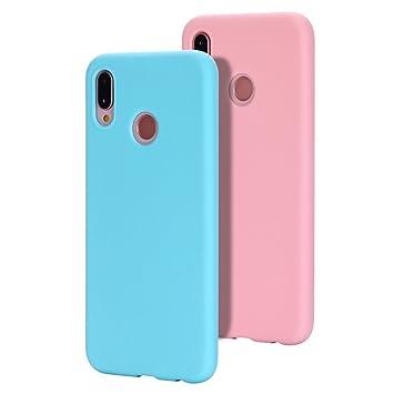Caselover 2X Funda Huawei P20 Lite, Suave TPU Silicona Carcasa para Huawei P20 Lite Ultra Delgado Flexible Mate Goma Gel Protectiva Caso Anti Rasguños ...