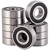 XiKe 10 Pack 6203-2RS 5/8'' inx40mmx12mm, Stable Performance and Cost-Effective, Double Seal and Pre-Lubricated, Deep Groove Ball Bearings.
