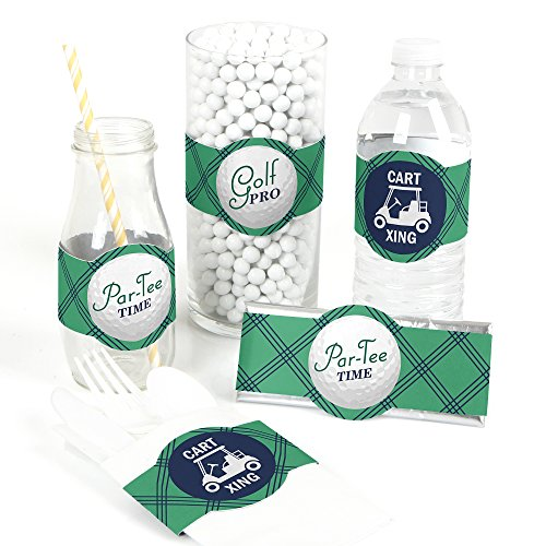 Par-Tee Time - Golf - DIY Party Supplies - Birthday or Retirement Party DIY Wrapper Favors & Decorations - Set of -