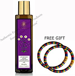 Forest Essentials Ayurvedic Bhring Raj Herb Enriched Head Massage Oil - 200 ML - With FREE GIFT Pair of Multicolor Bangles