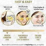 24K Gold Eye Mask– 20 Pairs - Puffy Eyes and Dark