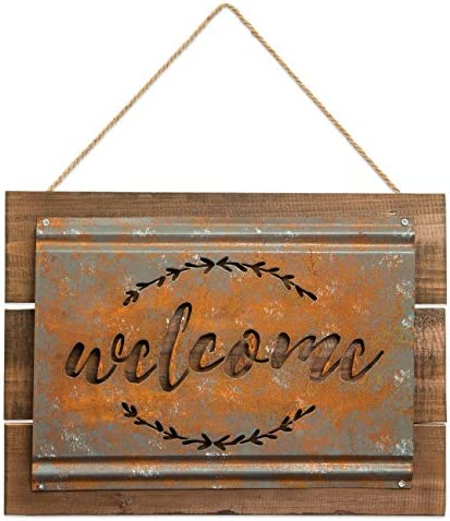 Brownlow Gifts Rustic Metal Welcome product image