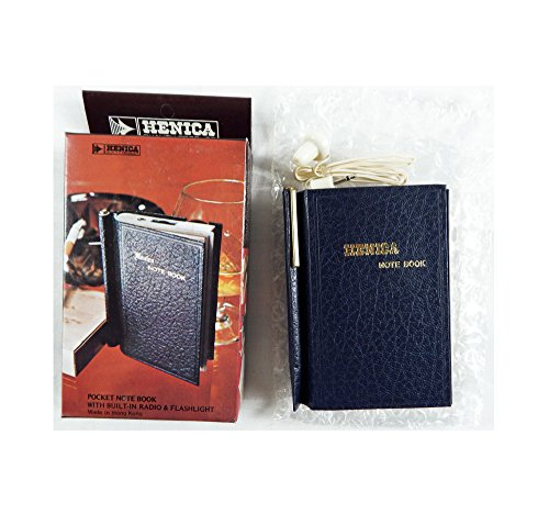 - Vintage 1970's Henica Pocket Note Book with Transistor Radio and Flashlight
