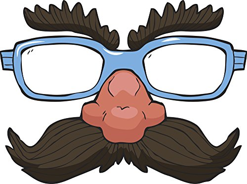 Cool Simple Glasses and Mustache Disguise Cartoon Vinyl Decal Sticker (12