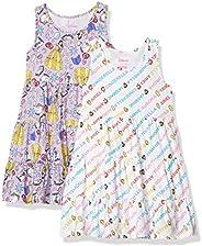 Amazon Brand - Spotted Zebra Girl's Disney Star Wars Marvel Frozen Princess Knit Sleeveless Tiered Dre
