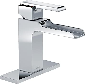 delta 568lflpu ara single lever handle single hole bathroom faucet chrome