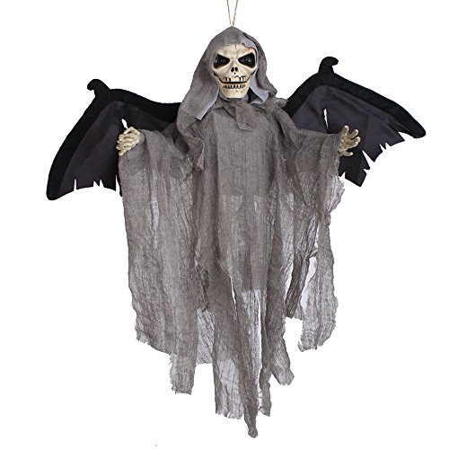 Willsa Sound Control Creepy Scary Animated Skeleton Ghost Halloween Party Decoration ()