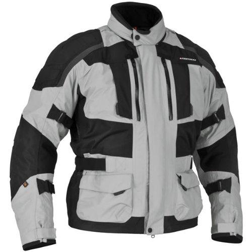 Firstgear 'Kathmandu' Mens Black/Gray Textile Jacket - 3X-Large