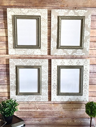 Amazon.com: Distressed Frame Set - Four Frames with Floral Lace ...