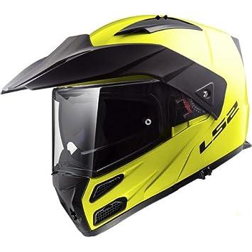 LS2 Cascos de Moto, Amarillo, Talla S