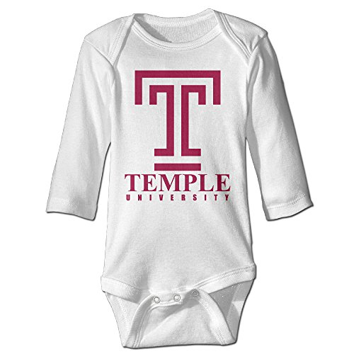 HOHOE Boy's & Girl's Temple University Long Sleeve Outfit White 18 Months