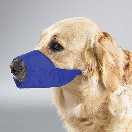 NYLON LINED MUZZLES for DOGS 3 Colors 9 Sizes Soft Dog Muzzle Collection(12 Muzzle Vet Set Blue) by Guardian