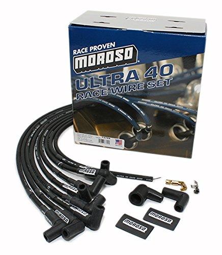 Moroso 73709 Ultra 40 Black Plug Wire Set by Moroso