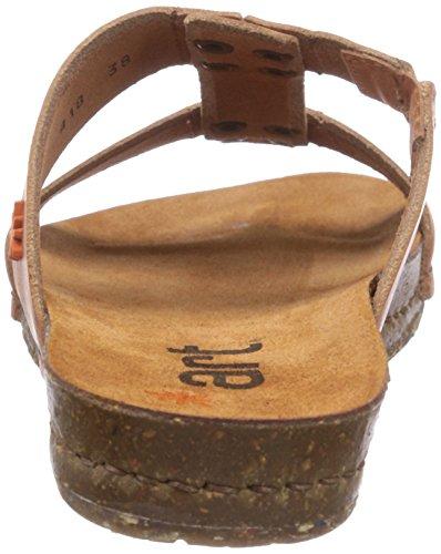 ART CRETA - Sandalias de cuero para mujer marrón - Braun (CUERO)