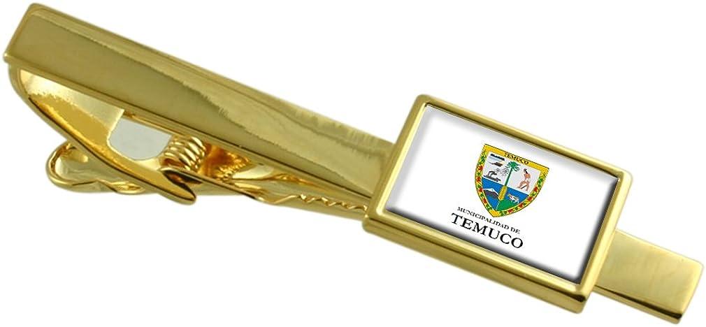 Select Gifts Temuco Chile Bandera Clip de Corbata de Oro: Amazon ...