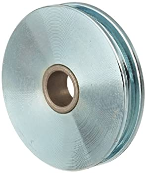 """Indusco 75700021 Zinc Plated Steel Replacement Sheave with Bronze Bushed, 1550 lbs Working Load Limit, 5/16"""" Cable Size, 3-1/2"""" Diameter x 3/4"""" Bore"""