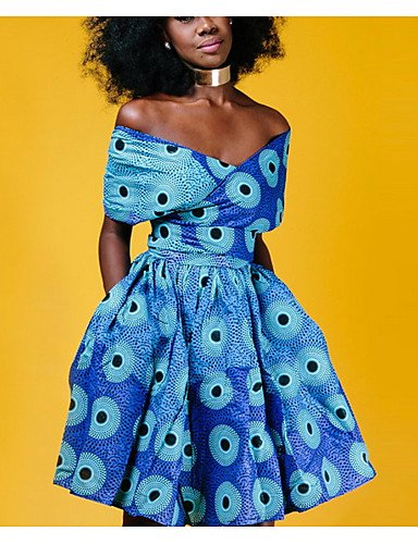 La Del Envoltura Alta Blue Delgado De Que Vestido Salen Profunda Yfltz Cintura V Mujeres W08wg