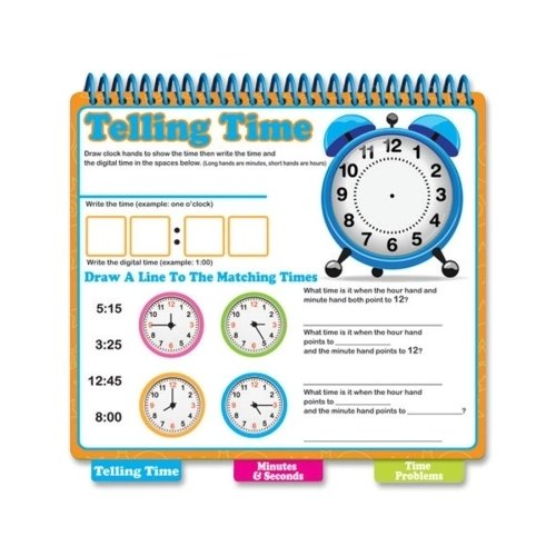 The Board Dudes Dry-Erase Learning Book, Tell Time *** Product Description: The Board Dudes Dry-Erase Learning Book, Tell Time, Assorteddry-Erase Learning Book Helps Children Learn To Tell Time With Erasable Dry-Erase Surfaces On Every Page. Colo ***