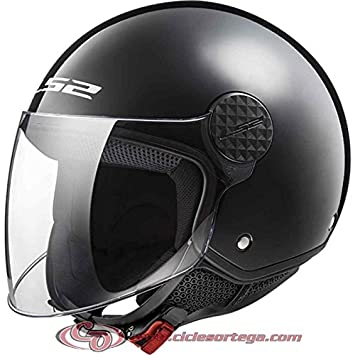 Casco Jet LS2 OF558 SPHERE GLOSS BLACK talla XL