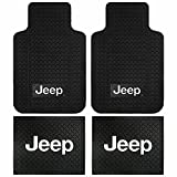 jeep car seat mat - Jeep Logo Car Truck SUV Front & Rear Seat Rubber Floor Mats - 4PC