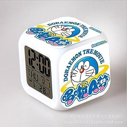 Digimon Reloj LED XD anime Creative del cómic coloreado despertador ...