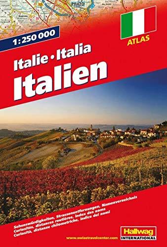 Atlas Italia 1:250 000 (Hallwag Atlanten)
