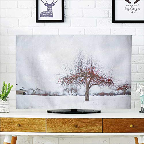 aolankaili Protect Your TV The Plum Blossom Tree in The Winter Snow Protect Your TV W25 x H45 INCH/TV 47