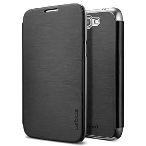 Spigen SGP SGP10021 Ultra Flip Case for Galaxy Note 2 - 1 Pack - Retail Packaging - Metallic Black