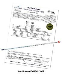 H-B DURAC Plus Calibrated Liquid-In-Glass Thermometer; 30 to 124F, 76mm Immersion, Organic Liquid Fill (B60205-0700)