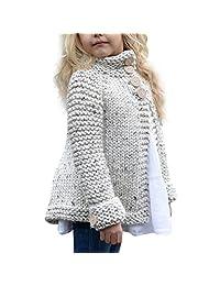 Staron  Toddler Baby Girls Knitted Jacket Coat Autumn Button Warm Sweater Cardigan