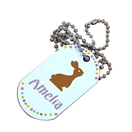 Personalized Chocolate Bunny Dog - Bunny Dog Tag