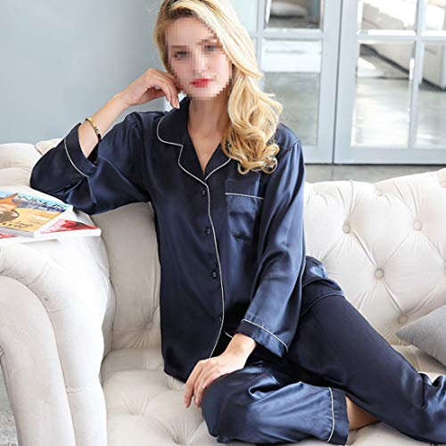 Mujer Mifusanahorn White Dormir Otoño Para Invierno Seda 100 Pijamas De UAxXqUr
